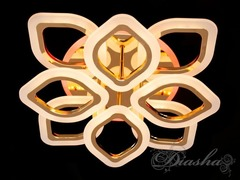 Золото и Хром Светодиодная Люстра с Пультом Диммером и Подсветкой 110W