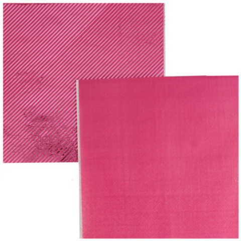 Салфетки блестящие розовые, 6 штук