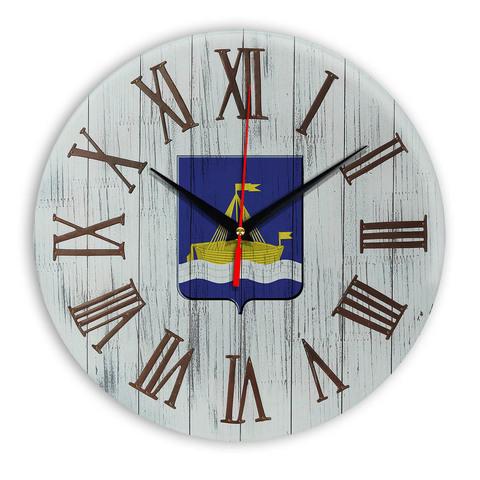 Печать под стеклом Деревянные настенные часы Тюмень 2 07