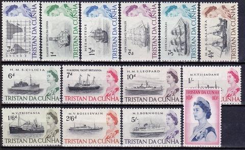 Tristan da Cunha 1965 №71-84 **MNH короткая