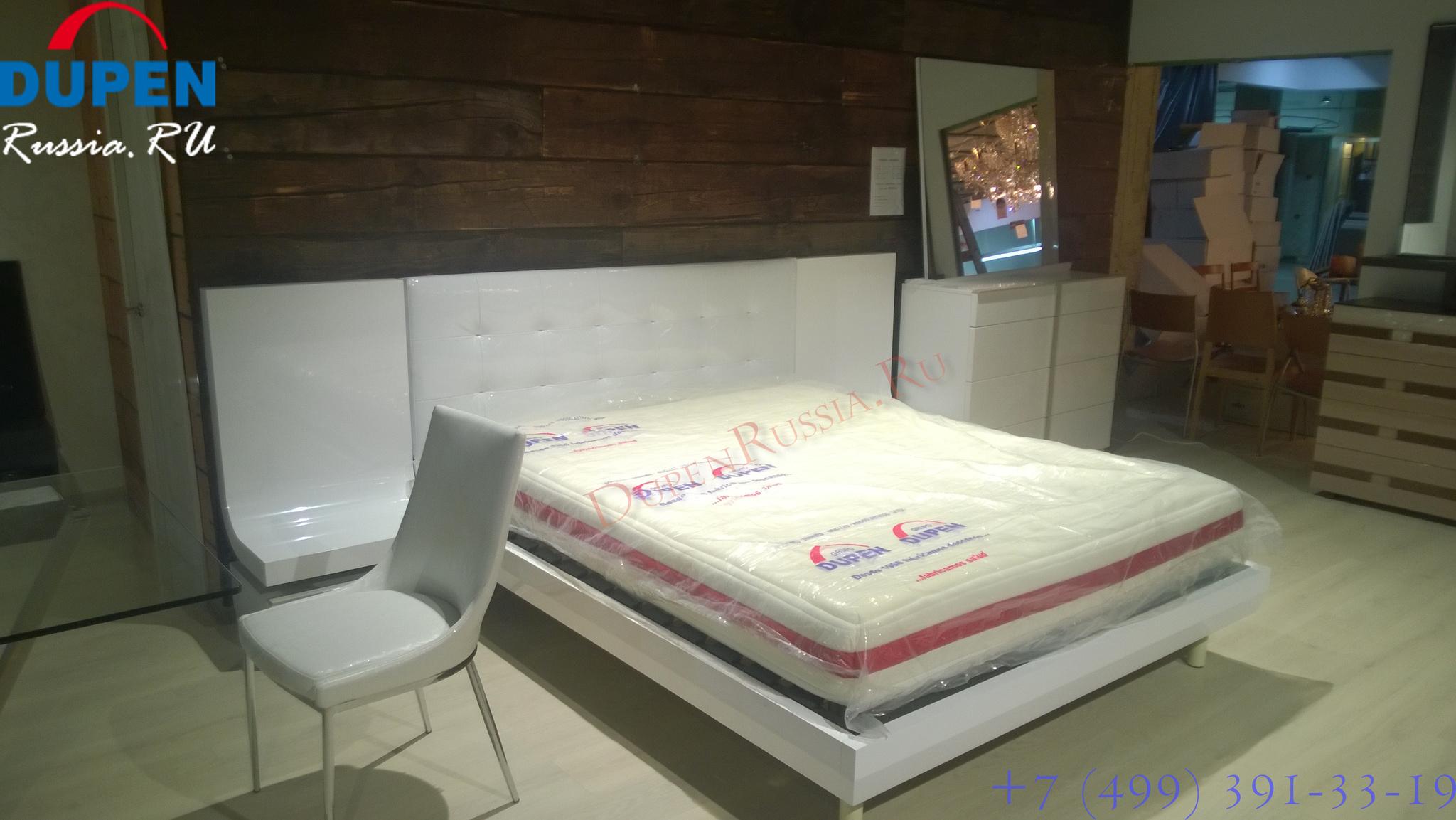 Кровать Fenicia Mobiliario 514 GRANADA и тумбочки прикроватные 3122, матрас DUPEN PLANET