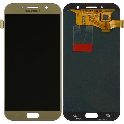 LCD SAMSUNG A7 2017 A720F + Touch Gold OLED MOQ:5