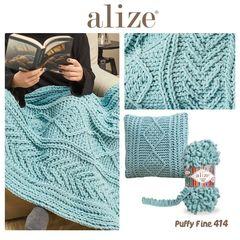 Пряжа Alize Puffy Fine цвет 414