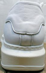 Белые кожаные кроссовки женские для ходьбы Rozen M-520 All White.