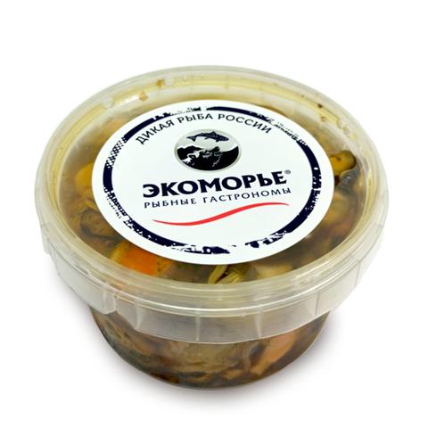 Мидии подкоп. в масле с вялеными томатами (240г)