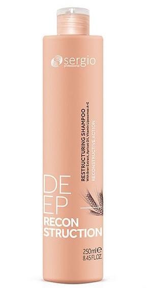 Шампунь Sergio Professional Deep Reconstruction Restructuring Shampoo восстанавливающий 250 мл