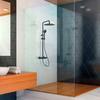 Душевая система с термостатом и тропическим душем для ванны BLAUTHERM 944801RP300NM черный - фото №3