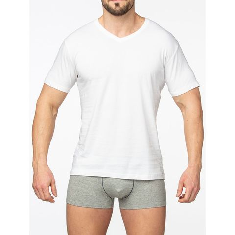 Мужская футболка белая Sergio Dallini SDT751-1
