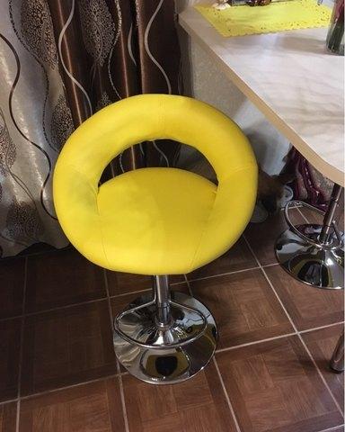 Сиденье для барного стула Mira/Мира, экокожа, желтое (сидение)