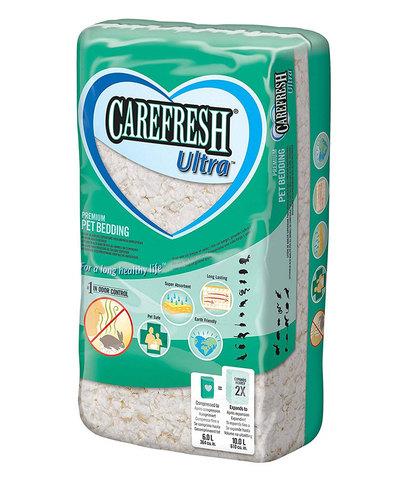 Carefresh Ultra наполнитель/подстилка белый на бумажной основе для птиц и мелких дом. животн. 10л