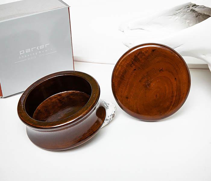 RAZ510-2 Чаша «PARKER» для мыла из дерева манго, темно-коричневая фото 05