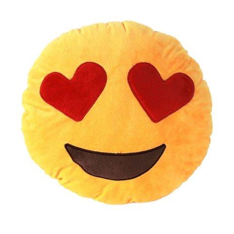 Подушка Emoji Heart Eyes (Эмоджи Сердечки, 28 см)