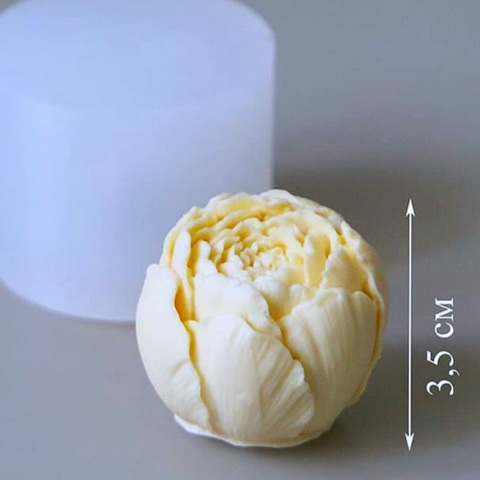 3D БУТОН ПИОНА силиконовый молд (размер 35х35мм)