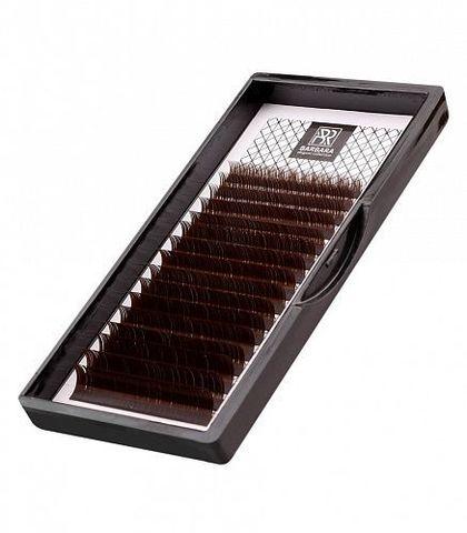 Тёмно-коричневые ресницы BARBARA (C 0.10 10mm)