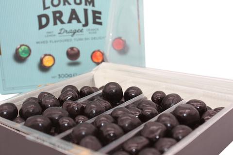 Мини-лукум ассорти вкусов в темном шоколаде, Koska, 300 г