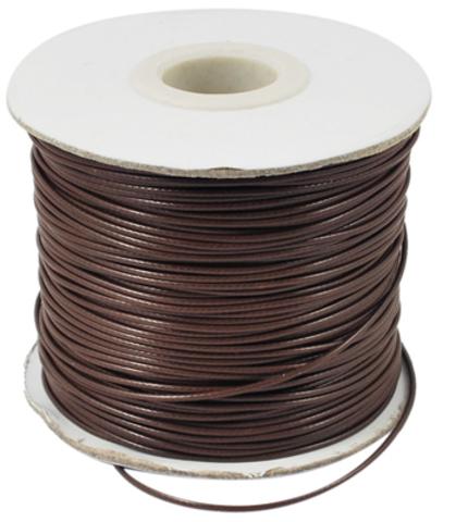 Шнур нейлон вощеный 1.0 мм коричневый на катушке 85 метров