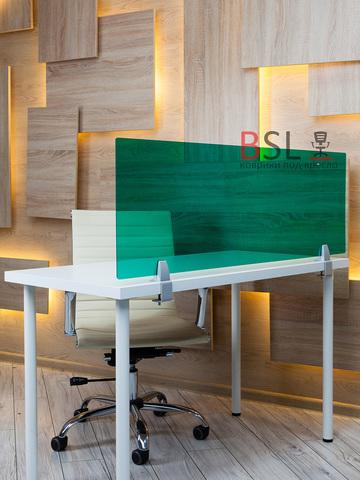 Экран на струбцинах с зажимом зеленый прозрачный Ш. 1000мм