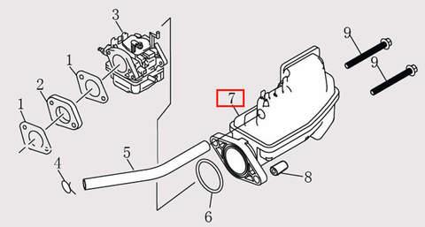 Глушитель для лодочного мотора F9.8 Sea-PRO (6-7)