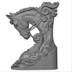 Силиконовый молд  № 1100-м  Конь  левый