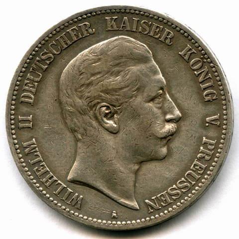 5 марок 1903 год (A) Германия-Пруссия VF-XF
