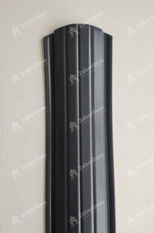 Евроштакетник металлический 110 мм RAL 7024 полукруглый двусторонний 0.5 мм