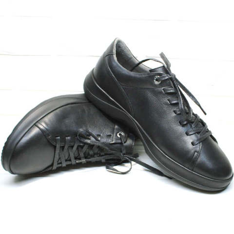 Демисезонные черные кеды с черной подошвой. Полукеды - модные мужские кроссовки для ходьбы Ikoc-LB