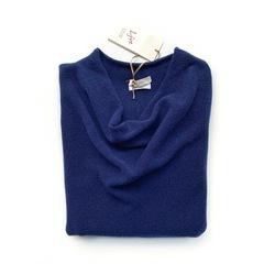 Пуловер с глубоким вырезом (Темно-синий)