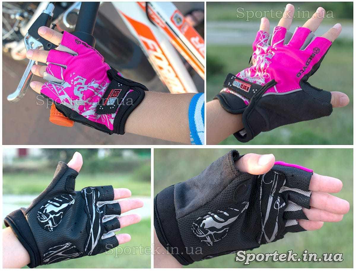 Рукавички велосипедні дитячі (Scoyco BG08) з повним захистом долоні і кисті без пальців на руці