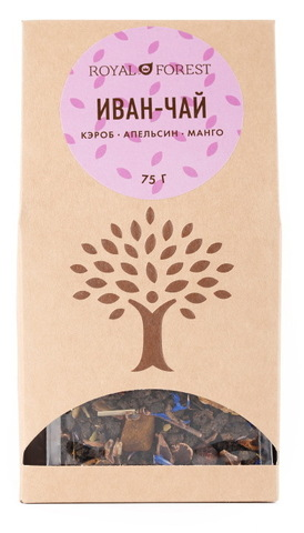 Иван-чай с травами, Royal Forest, кэроб, 75 г