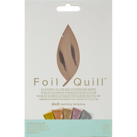Фольга Foil Quill Foil Sheets от We R Memory Keepers . 30 шт: 10 х 15 см.