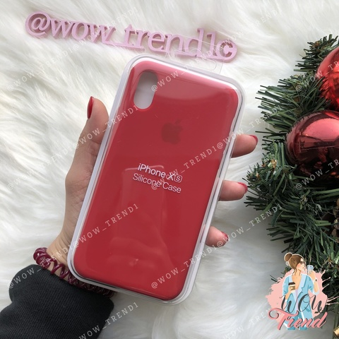 Чехол iPhone X/XS Silicone Case (product) /red/ красный original quality