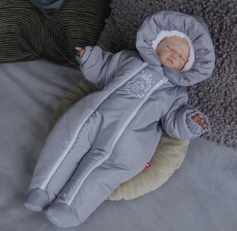 Зимний комбинезон для новорожденных Кинг (серый)