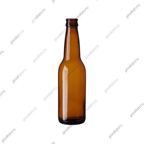 Бутылка пивная 0,33 л коричневая, 20 шт