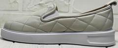 Красивые туфли кеды кожаные женские Alpino 21YA-Y2859 Cream.