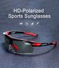 Очки солнцезащитные XQ410, (черно-синие / дымчатые) +3 доп. линзы