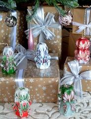 Подарочный набор резных свечей Новогодний 5.2