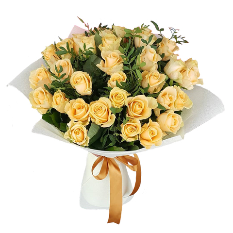 Букет из 39 кремовых роз (местные)