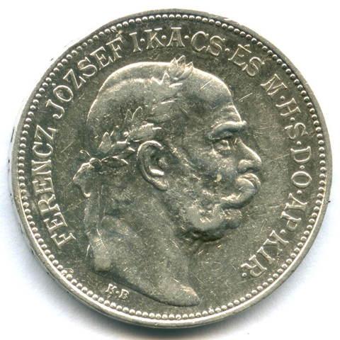 2 кроны 1912 Венгрия VF Серебро
