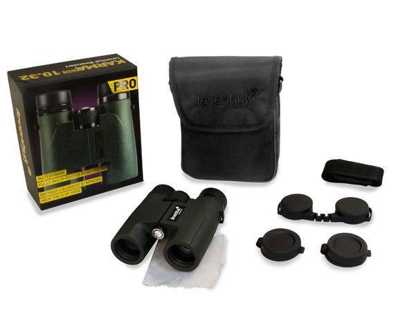 Комплект поставки бинокля Levenhuk Karma Pro 10 32