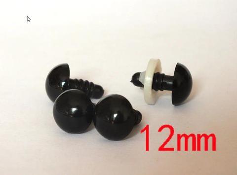Глазки для мягкой игрушки черные гвоздики