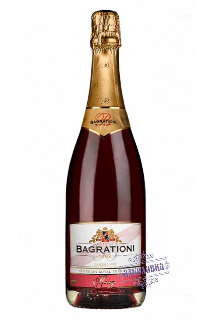 Багратиони игристое вино розовое брют выдержанное. 0,75 л.