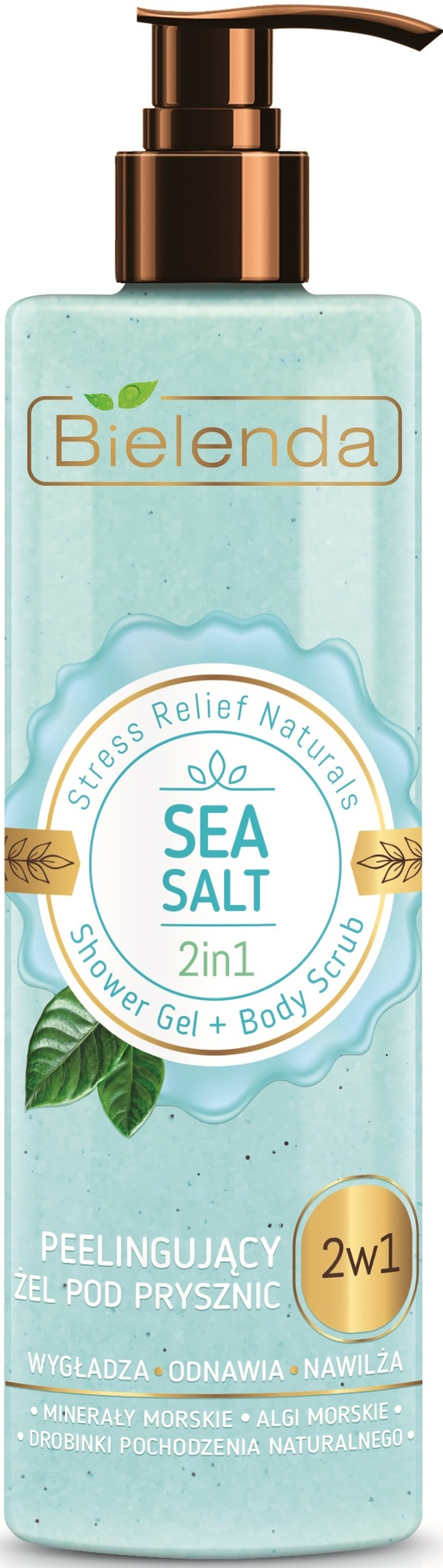 STRESS RELIEF NATURALS Sea Salt 2в1 гель для душа+скраб 410г