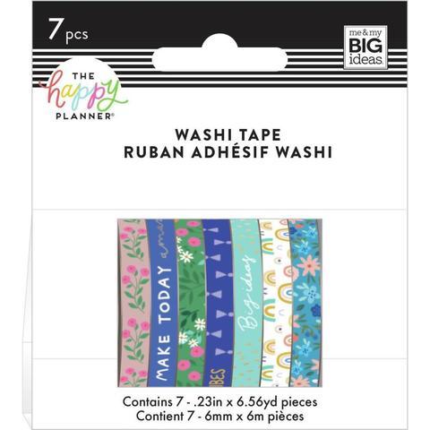 Набор скотчей Happy Planner Mini Washi Tape 3 мм x 6 м х 7 шт - Squad Goals