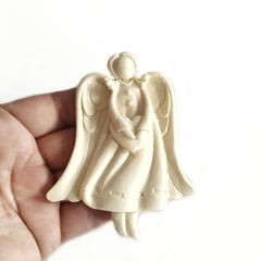0919 Молд силиконовый. Ангел с сердцем.