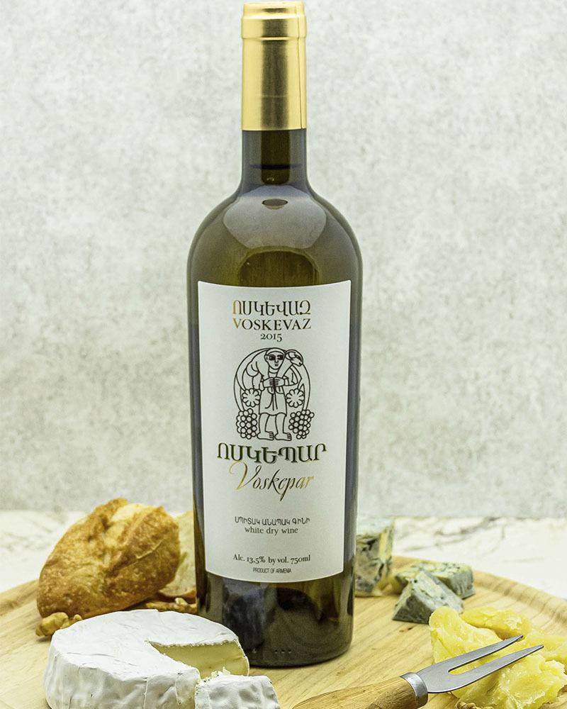 Вино Voskevaz Белое Сухое Воскепар 2015 г.у. 13,5%, 0,75 л.
