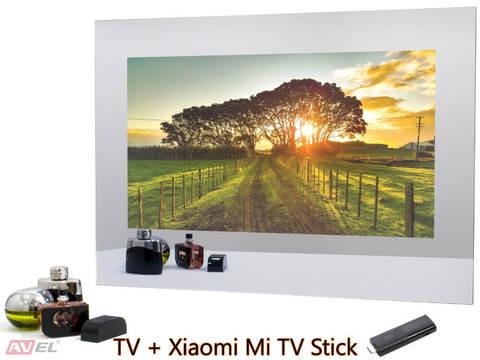 Телевизор в зеркале AVEL AVS245SM (Magic Mirror) + Xiaomi Mi TV Stick