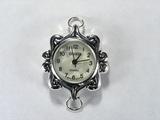 Основа для часов, металлическая, 31x27 мм, посеребренная, 1 шт.