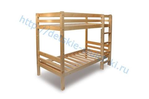 Кровать двухъярусная детская из массива