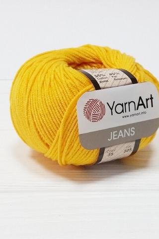 Пряжа YarnArt JEANS - (35-жёлтый)