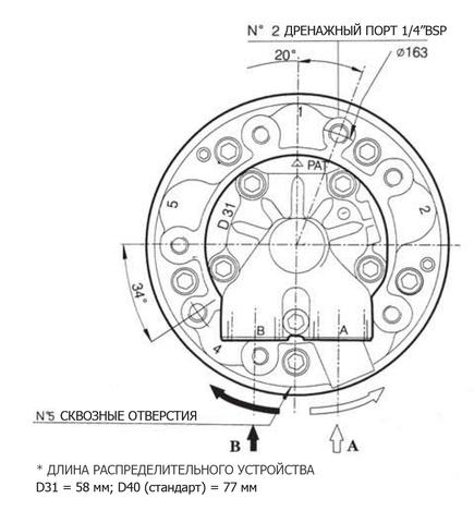 Гидромотор INM05-60